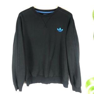 Black on Black Originals 3 Stripe Sweatshirt M